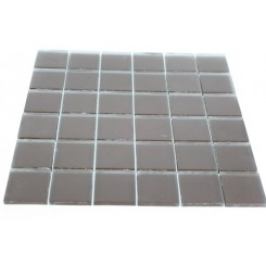 Loft Mahogany Frosted 2 X 2 Glass Tiles