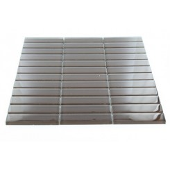 Loft Mahogany Polished 1 X 4 Glass Tiles