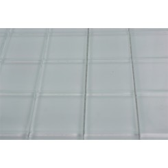 SAMPLE - LOFT SUPER WHITE POLISHED 2X2 GLASS TILES 1 PIECE SAMPLE_MAIN