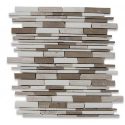 Americana Free Form Cracked Joint Brick Marble Tile