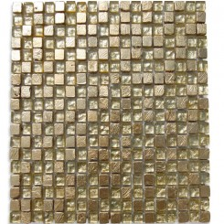 Alloy Golden Crest 1/2 x 1/2 Glass And Marble Tiles