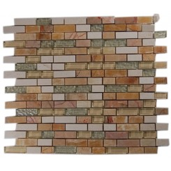 ALLOY SEQUOIA BLEND 1/2X2  MARBLE &amp; GLASS TILE_MAIN