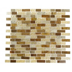 Alloy Canyon Blend 1/2 X Random Glass &amp; Marble Mosaic Tiles