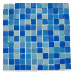 Loft Aqua Pearl 1 x 1 Glass Tiles