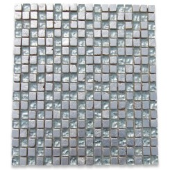 Alloy Quick Silver 1/2 x 1/2 Glass And Marble Tiles