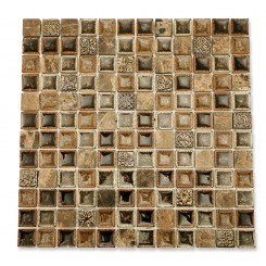 Roman Collection Chamoisee 1x1 Glass Tile