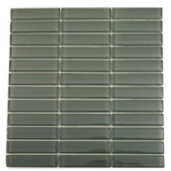 Loft Ash Gray Polished 1&quot; X 4&quot; Glass Tiles