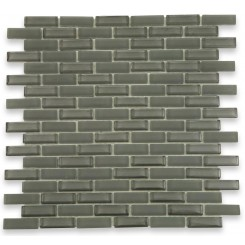 Loft Ash Gray 1/2x2 Brick Pattern