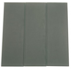 Loft Ash Gray Frosted 4&quot; X 12&quot; Glass Tiles