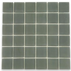 Loft Ash Gray Frosted 2x2 Glass Tile