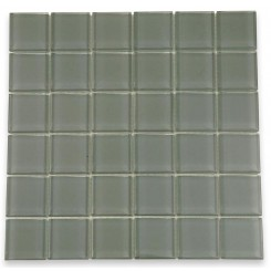 Loft Ash Gray Polished 2x2 Glass Tile