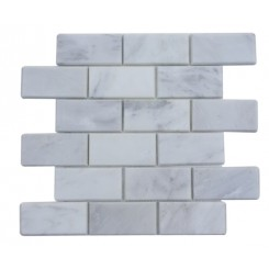 Asian Statuary Beveled 2x4  Marble Tile