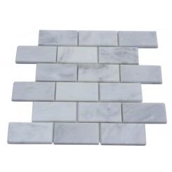 ASIAN STATUARY BEVELED 2X4 MARBLE TILE_MAIN