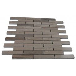 ATHENS GREY 3/4 X 4 BIG BRICK PATTERN MARBLE MOSAIC TILES_MAIN