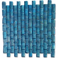 Gaby Azure Brick Glass Tiles