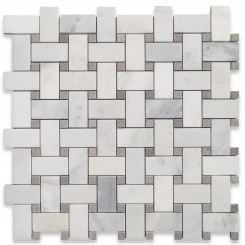 Twine Asian Statuary Honed Marble Tile