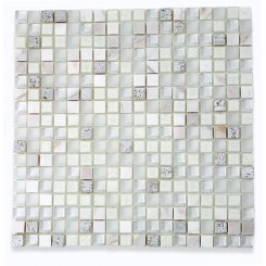 Alloy Deco Blizzard 5/8 X 5/8 Glass Tile