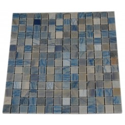 BLUE MACAHUBA 3/4&quot; X 3/4&quot; MARBLE MOSAIC TILE_MAIN