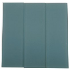 Loft Blue Gray Frosted 4&quot; X 12&quot; Glass Tiles