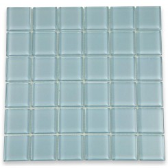Loft Blue Gray Polished 2 X 2 Glass Tiles