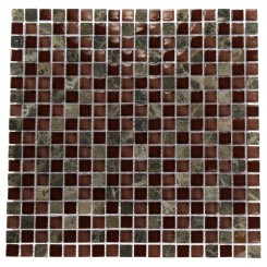 BOURBON BLEND 1/2&quot; X 1/2&quot; MARBLE &amp; GLASS MOSAICS_MAIN