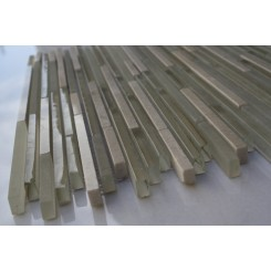 "Sample-breeze Stylus Sand Ice Pattern 1/8"" X Random 1/4 Sheet Glass Tiles Sample"