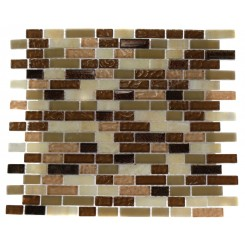 BRICK PATTERN - SOUTHERN TRAIL BLEND 1/2X 2 MARBLE &amp; GLASS TILE BRICK_2