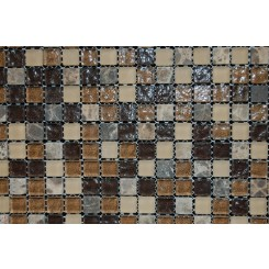 sample-BARREL BROWN BLEND 1/2X1/2 1/4 SHEET  TILES SAMPLE_MAIN