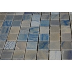 "sample-BLUE MACAHUBA 3/4 X 3/4""  1/4 SHEET TILE SAMPLE""_1"