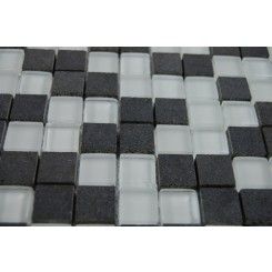 "sample-BREEZE BASALT ICE PATTERN 3/4 X 3/4"" SQUARES 1/4 SHEET GLASS TILES SAMPLE""_MAIN"