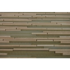 "sample-BREEZE STYLUS CREMA ICE PATTERN 1/8 X RANDOM 1/4 SHEET GLASS TILES SAMPLE""_MAIN"