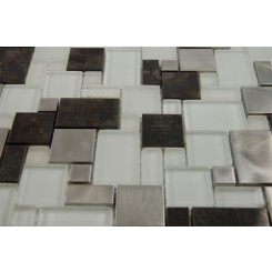 sample-BREEZE STEEL ICE VENETIAN PATTERN 1/4 SHEET GLASS TILES SAMPLE_MAIN