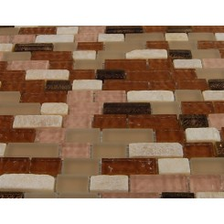 "sample-BRICK PATTERN SOUTHERN TRAIL BLEND 1/2 X 2"" 1/4 SHEET  TILES SAMPLE BRICK""_MAIN"