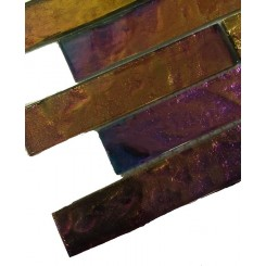 Sample-Iridescent Carnival Bricks Glass Tiles Sample