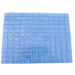 Loft Cascade Blue 1 x 1 Glass Tiles