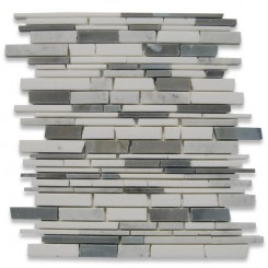 Cloudburst Free Form Cracked Joint Brick Marble Tile