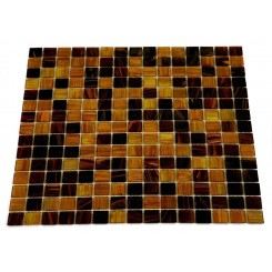 Sample-coffee Bean Glass Tiles 1/4 Sheet Sample