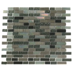 CONSTELLATION BLEND BRICK PATTERN 1/2&quot; X 2&quot; MARBLE &amp; GLASS TILE BRICKS_MAIN