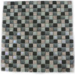 Constellation Blend Squares 1/2&quot; X 1/2&quot; Marble &amp; Glass Tile