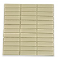 "Loft Cream Polished 1"" X 4"" Glass Tiles"