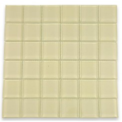 Loft Cream Polished 2 X 2 Glass Tiles