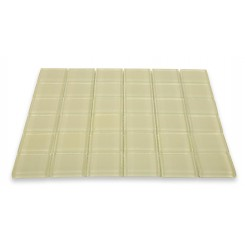 Sample - Loft Cream Polished 2x2 Glass Tiles
