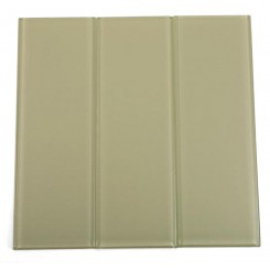 "Loft Cream Polished 4"" X 12"" Glass Subway Tiles"