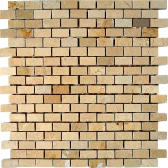 CREMA MORFILL 1/2 X 1 CLASSIC BRICK PATTERN MARBLE MOSAIC TILES_MAIN