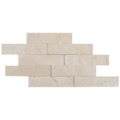 Brushed Stone Crema Marfil 2x8 Marble Tile