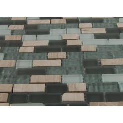 "sample- FUSION CONSTELLATION BLEND BRICK PATTERN 1/2 X 2""  TILES 1/4SHEET SAMPLE BRICK""_MAIN"
