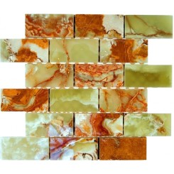DARK GREEN ONYX 2X4 MARBLE MOSAIC TILES_MAIN