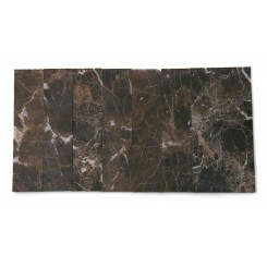 Brushed Stone Dark Emperidor 2x8 Marble Tile