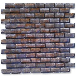 Gaby Dewy Iris Brick Glass Tiles  (Meshless)
