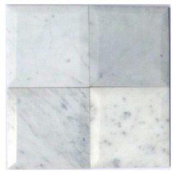 Speranza Carrera Beveled 6x6 Polished Marble Tile